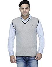 """Super weston Sleeveless Slim Fit Sweater for Men,100% Wool Sweater,Colour and Size Choose According 6 Colour Available M=38"""",L=40"""",XL=42"""""""