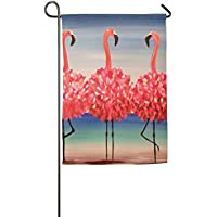 Goden jinhua Dancing Pink Flamingos Outdoor Flag Garden Flag Demonstration Flag Family Party Flag And Competition Flag