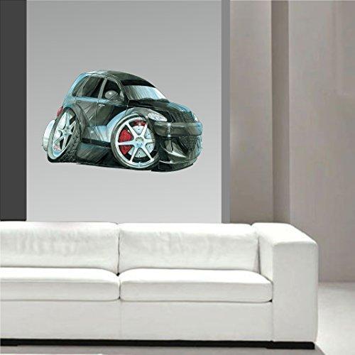 Pt Aufkleber Cruiser (Koolart Cartoon American Muscle Design für Chrysler PT Cruiser Wandkunst Sticker Abziehbild Kinderzimmer groß 70cm breit)
