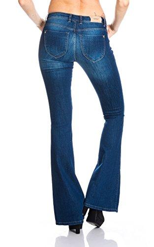 ONLY Damen Schlag Jeanshose 15110241 Mittelblau