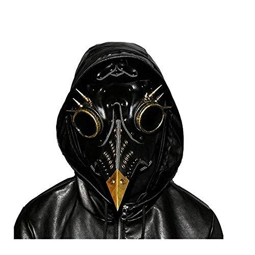 Plague Doctor M Schürze für Vögel Ca?o Lang Zubehör für Halloween Steampunk Cosplay Schwarz -