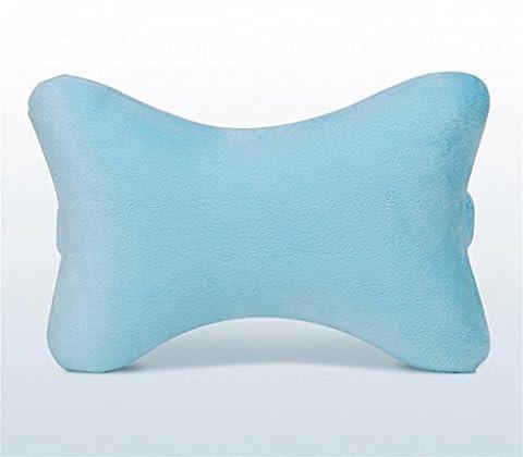 XXFFH® Coussin de cou de voiture Mousse de mémoire Supports de tête en forme de bonbons Coussin de tête de cou de voiture (28 * 19 * 8cm) , days blue