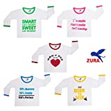 #9: Zura's Export Quality Cotton Round Neck Baby Boys Tshirt / Baby Girls Tshirt/Baby dress (Pack of 5)