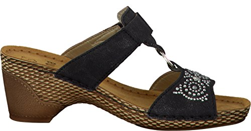 Femmes Mules Jana noir largeur G taille de semelle intérieure en cuir 37 à 41 schwarz