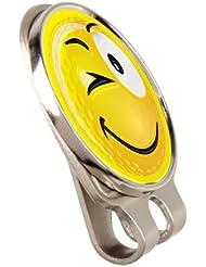 """Am nächsten der """"YELLOW SMILEY WINK """" Mütze oder Hut Clip und Magnethalterung GOLF BALL MARKER BY ASBRI GOLF"""
