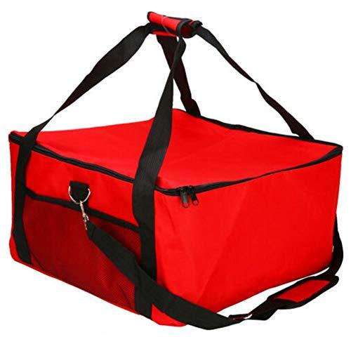 perfecti 16 Zoll Pizza Bag Groß Kühltasche Thermotasche Multifunktion Picknicktasche Oxford-Tuch Food Delivery Tasche Einfach Zu säubern, 42 42 23cm