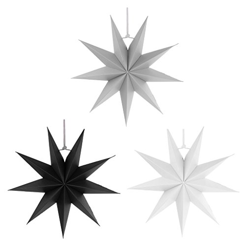Weihnachtsstern 18cm Adventsstern 3D Papierstern Faltstern Stern Fenster Deko