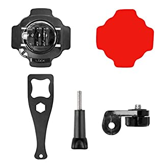 JAGETRADE 5 in 1 360 Degree Action Camera Helmet Rotary Mount Kit Adhesive Mount for GoPro