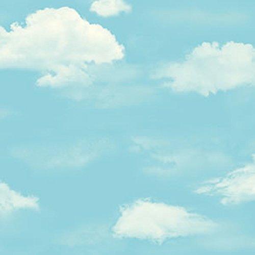 Wolken Wallpaper (blauen Himmel und weiße Wolken Wallpaper/Süße Kinder Zimmer Tapete/jungen und Mädchen Tapeten/Schlafzimmer Tapete Wolken-A)