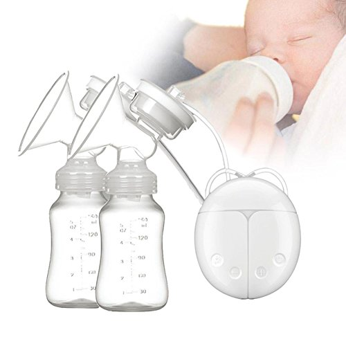 Electric Breast Pump Kit Double Use for Baby Breastfeeding and Automatic Massage Postpartum Prolactin by Upstartech 41tWNT7YdbL