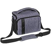 """PEDEA SLR-Kameratasche """"Fashion"""" Schultertasche Messenger Kameratasche Umhängetasche Kamera Tasche mit Regenschutz, Tragegurt und Zubehörfächern, Gr. XL grau"""