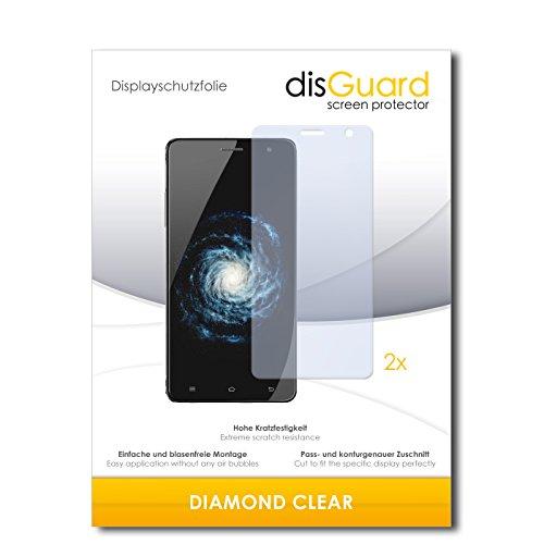 disGuard 2 x Bildschirmschutzfolie Cubot H1 Schutzfolie Folie DiamondClear unsichtbar