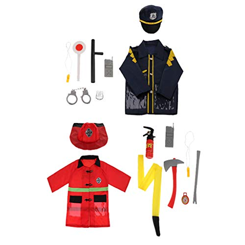 Homyl Set di Cosplay Ruolo Costumi Halloween Cappello Bussola Walkie-Talkie Bambini Regale Natale