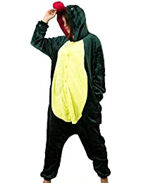 r-dessous Damen Herren Dinosaurier Dino Kostüm Tier Drache Schlafanzug Pyjama Motto Party Karneval Overall
