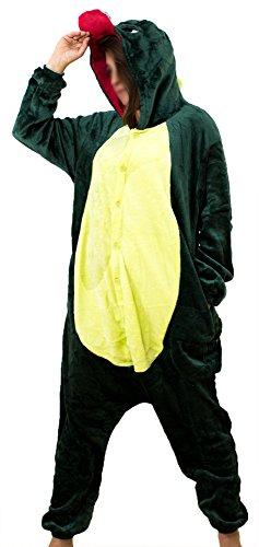 R-Dessous Damen Herren Dinosaurier Dino Kostüm Tier Drache Schlafanzug Pyjama Motto Party Karneval Overall Groesse: L