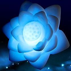 Luz LED de flor de loto con 7 colores cambiantes, luz solar flotante para piscina y estanque RGB, luz nocturna, para niños y adultos