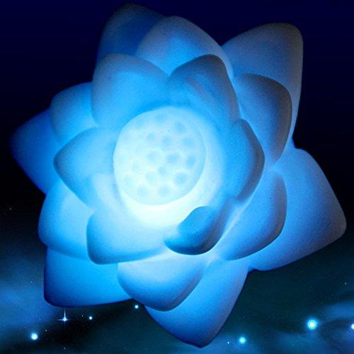 Luz LED con diseño de flor de loto y 7 colores cambiantes. Luz solar flotante para piscina y estanque RGB. Ideal para niños y adultos