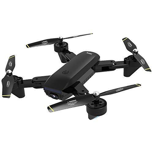 HappySDH Drohne mit Dual Kamera 120°Weitwinkel 4K HD Echtzeitübertragung,FPV RC Quadrocopter Drohne Kinder mit One Key Start/Landung,Headless Modus,Pocket Drohne für Anfänge- SG700-D (Schwarz)