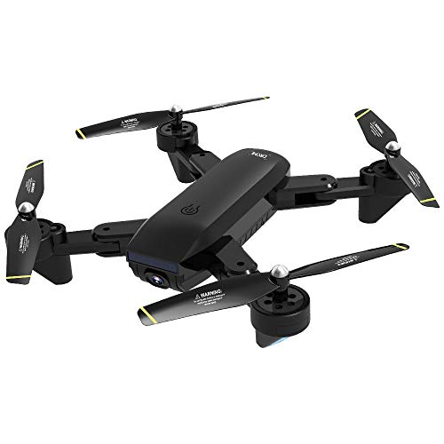 AmaSells Intelligent SG700-D Flugzeuge WiFi 2.4GHz 4CH Weitwinkel 4K HD Dual Kamera Faltbarer RC Quadcopter Drone RTF Fernbedienung Optischer Fluss 3.7V 1600mAh (Schwarz) Portable Video-sender