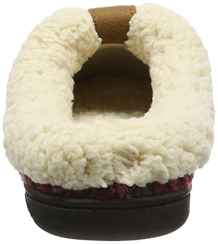 Dearfoams - Space-dye Boucle Clog With Memory Foam, Pantofole Donna Rosso (Cabernet 10604)