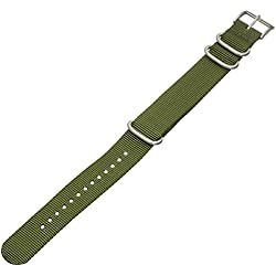 Momentum ZC-22WEB GREEN 22mm Nylon Green Watch Strap