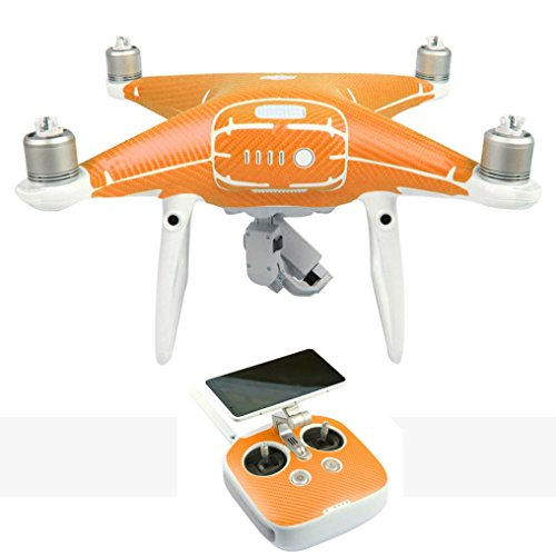 WYXlink Body Skin Wrap Sticker Decal For DJI Phantom 4 Pro/Pro+Drone +Controller (Orange)