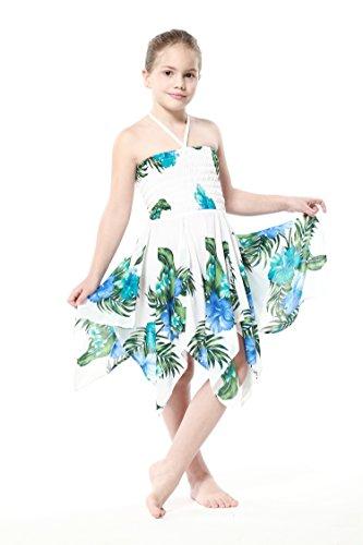 Nia-gitano-Botn-desigual-Hawaiian-Luau-vestido-en-Blanco-con-el-azul-floral4