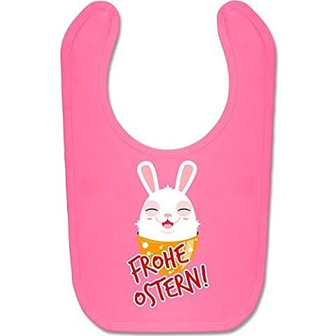 Anlässe Baby - Frohe Ostern - Osterhase - Unisize - Pink - BZ12 - Süßes Baby Lätzchen als Accessoire für Jungs und Mädchen