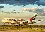 "Emirates Aerolíneas Airbus A380 Rusia 2018 Flora y Fauna Color Esquema Aviación Póster 10714 (A3-A4-A5) - A3 - Varias Tallas Disponibles - Vprints-Uk - Alta Calidad Impresión Profesional Fotografías - A3 - Grande - (12 ""X 17"") - Acelerada Entrega y A..."