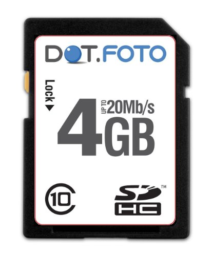 dotfoto-extreme-sdhc-4gb-class-10-20mb-s-speicherkarte-fur-canon-powershot-s3-is-s5-is-s90-s95-s100-