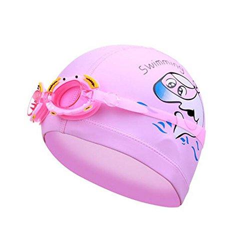 Black Temptation Schwimmen-Kappe und Schutzbrillen für Kinder- Rosa