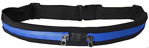 grandcow Outdoor Sport Taille Gürtel Portemonnaie Running Gürteltasche Tasche für 78,7-119,4cm Taille, blau