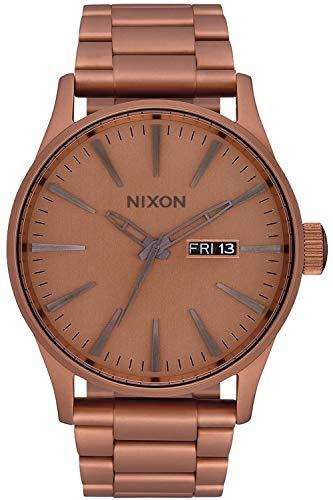 Nixon Sentry SS Montre Femme Analogique Quartz avec Bracelet Acier Inoxydable plaqué Or A3563165