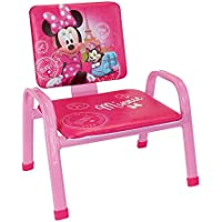 Fun House Disney Minnie Paris Mon Premier Silla para niños, PVC, Acero, Espuma, 34x 32x 39cm
