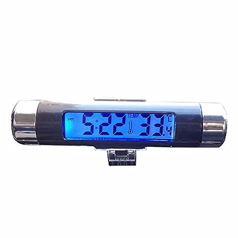 La voiture réveil/thermomètre voiture/voiture/nuit tableau électronique véhicule léger réveil table/fournitures Auto