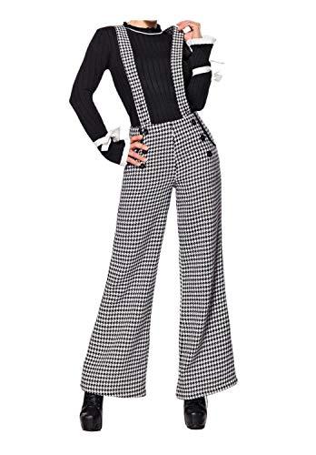 Mit Kostüm Hosenträgern - Belsira Damen Marlenehose mit Hosenträgern M