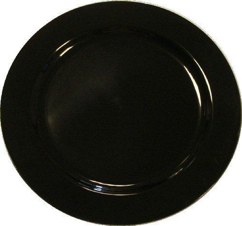 20 Assiettes en plastique noir MOZAIK 26cm