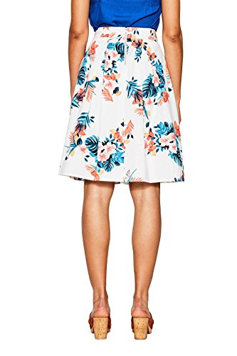 Esprit, Jupe Femme Multicolore (Off White 110)