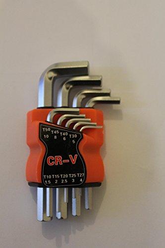 Durable Schlüssel 9-teilig HEX ALLEN Schlüssel Set–Werkzeug Auto Fahrzeug Bike Metrisches Schlüssel 1,5–10mm (Allen Hex Key)