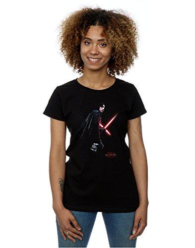 Star Wars mujer The Last Jedi Kylo Ren Shadow Camiseta Medium Negro