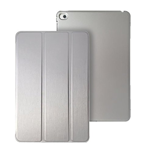 Cover iPad Mini 4 - KHOMO Custodia Argento Doppia Smart Cover piú Back Cover Dual Case Ultra Sottile e Leggera con Supporto per il Nuovo Apple iPad MINI 4