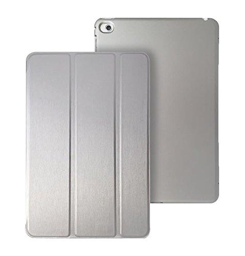 KHOMO iPad Pro 9.7 Zoll Hülle Case Silber Gehäuse mit doppelten Schutz ultra dünn und leicht, Smart Cover Schutzhülle fur das Neue Apple iPad Pro 9.7 - Dual Silver