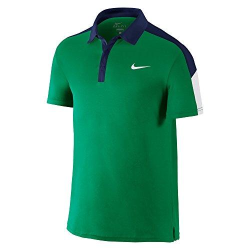 Nike Team Court Herren Polo-Shirt M grün/Marineblau/weiß (Lucid Green/Midnight Navy/weiß/weiß)