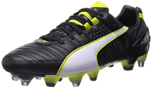 Puma King II Mixed SG, Scarpe da calcio uomo multicolore, Nero (Schwarz (black-white-sulphur spring 03)), 43