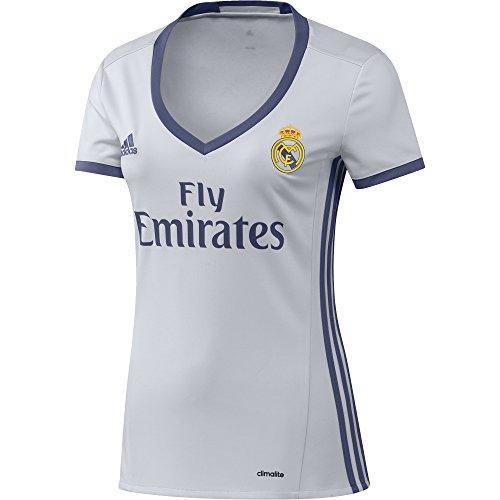 adidas H JSY W Camiseta 1ª Equipación del Real Madrid CF 2015/16, Mujer, Blanco/Morado, L