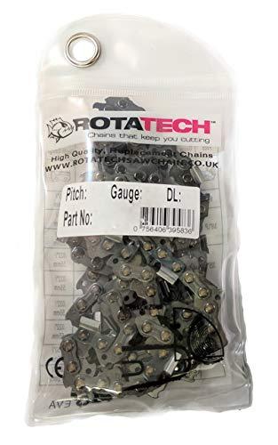 Authentische Rotatech-Sägekette für Makita UC3541A, 240V, 35,6cm (14 Zoll) elektrische Kettensägen, 52Treibglieder, 9,52 mm (3/8Zoll) Teilung, 1,3 mm Nutbreite