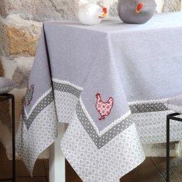 LOVELY CASA Nappe, Coton, Gris, 250x150 cm