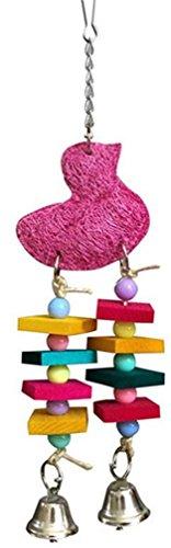 Papagei Spielzeug natürliche Holz Metall Haken dauerhafte kauen ungiftig Small Medium Papagei kauen Spielzeug (2 Stk) -