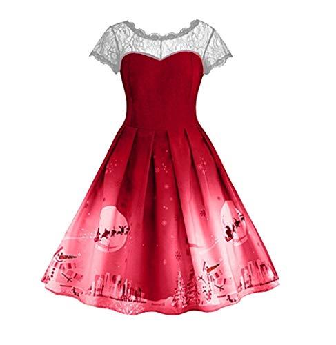 Weihnachts Kleid Lilicat Frauen Retro Cocktailkleid Kleid Klassische Vintage 50er Vintage 60er...