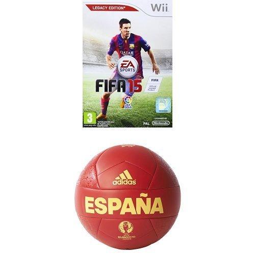 FIFA 15 + adidas Euro16 OLP Esp C - Balón, color rojo / amarillo, talla 5